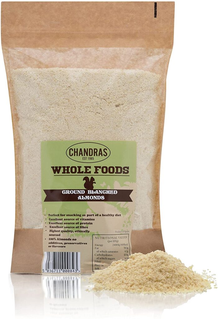 Chandra Whole Foods Ground Almonds / Almond Flour 1kg