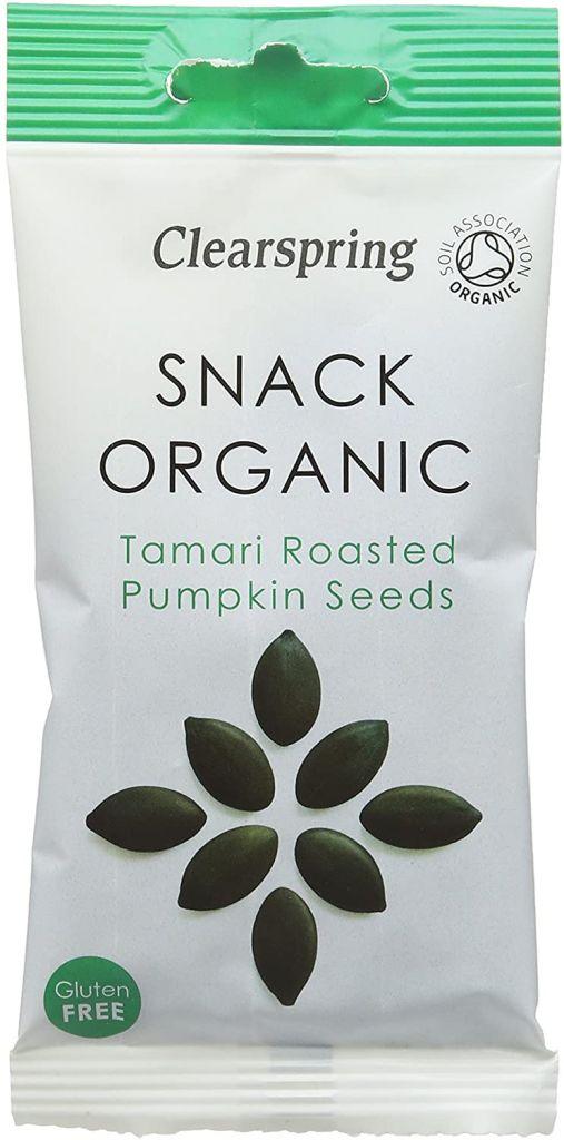 Clearspring Organic Tamari Roasted Styrian Pumpkin Seeds 30g Pack of 15 Bags