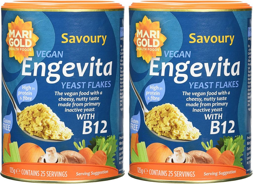 Engevita Savoury Yeast Flakes with B12 - x2 125g Tubs