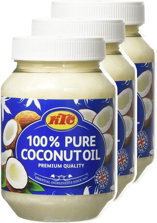 KTC 100% Coconut Oil 500ml Pack of 3
