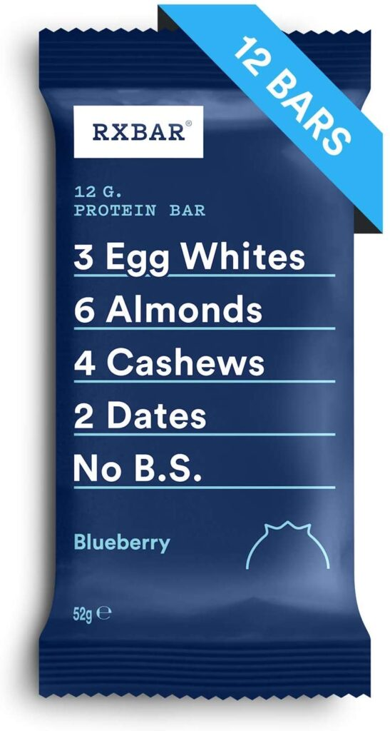 RXBAR Blueberry Protein Bar gluten free pack of 12 bars made in the UK