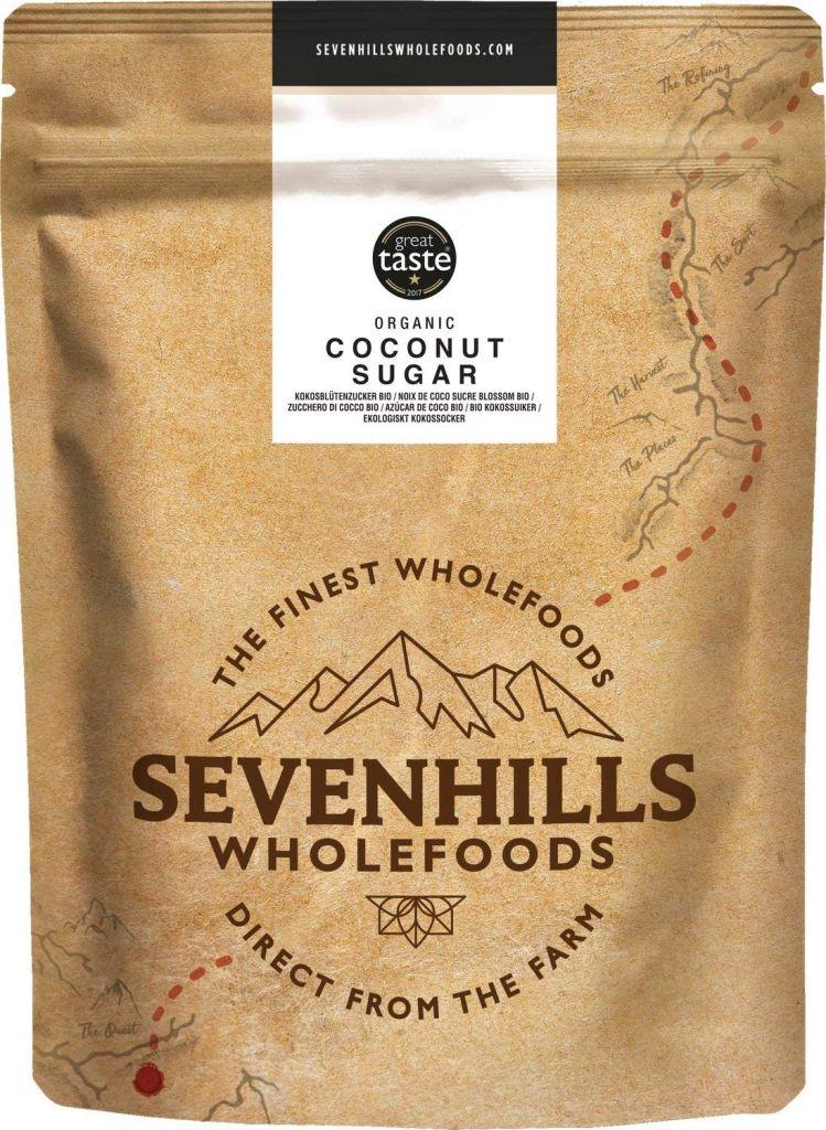 Sevenhills Wholefoods Organic Coconut Sugar 2kg - Low GI Brown Sugar