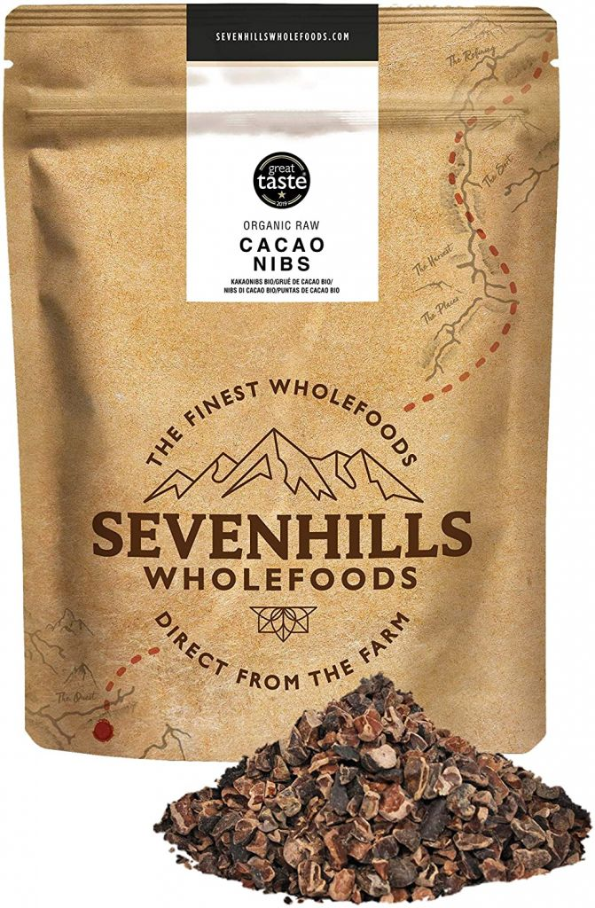 Sevenhills Wholefoods Organic Raw Cacao / Cacao Nibs 500g