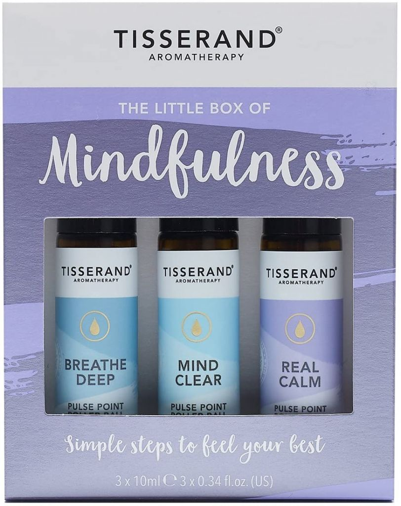 Tisserand Aromatherapy Little Box of Mindfulness Pulse Point Roller Ball Oils 10ml x3